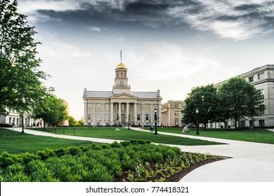 Pentacrest downtown Iowa city
