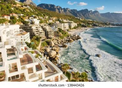 Penthouse estate near beach. Shot in Cape Town, South Africa.