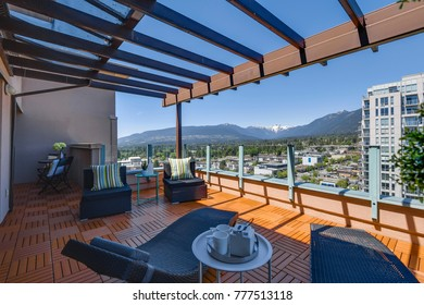 Penthouse patio view  Vancouver Canada