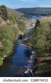 PenyGarreg reservoir, in the Elan Valley, Wales.