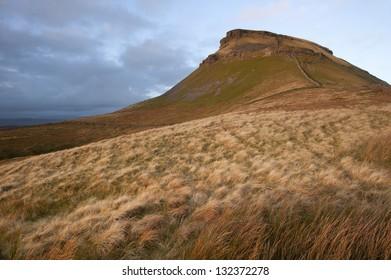 Pen-y-Ghent landscape in Yorkshire Dales National Park