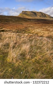 Pen-y-Ghent seen from Pennine Way in Yorkshire Dales National Park