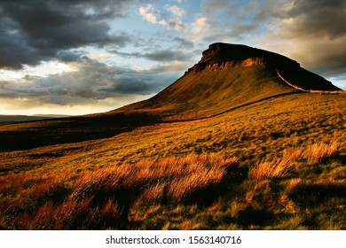 Pen-y-ghent at sunset, Yorkshire Dales