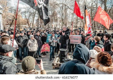 PENZA, RUSSIA - MARCH 26, 2017:  Opposition rally in Russia