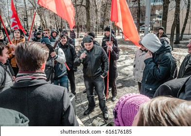 PENZA, RUSSIA - MARCH 26, 2017:  The people of Penza are fed up with corruption in government leaders