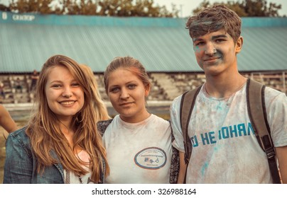 PENZA, RUSSIA - SEPTEMBER 6, 2015: Feast of love Holi in Russia