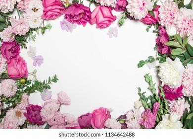 peony green rose border