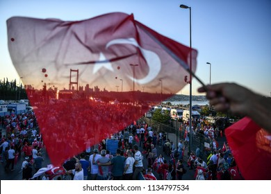 People attending the commemorations for the second anniversary of the coup attempt in Turkey. the second anniversary of the military coup 15JULY 2018 istanbul at turkey