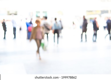 People background, intentionally blurred