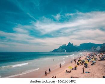 people at beach in Rio de janero 02/03/2020