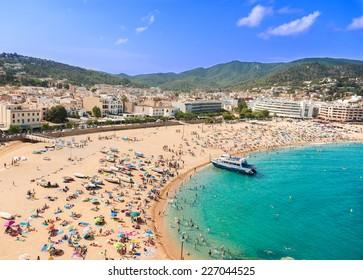 People at beach in Spain