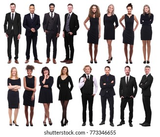 People in black above and next each other