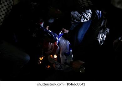 Burning Flag Israel Images, Stock Photos & Vectors