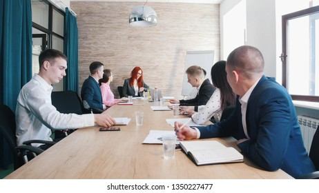 People at the business conference in the office