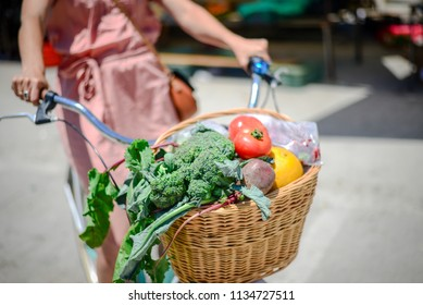 People buying fruits and vegetables ingredient. Summer outdoors farm market shopping background. Casual purchasing selling real natural healthy lifestyle candid closeup image.