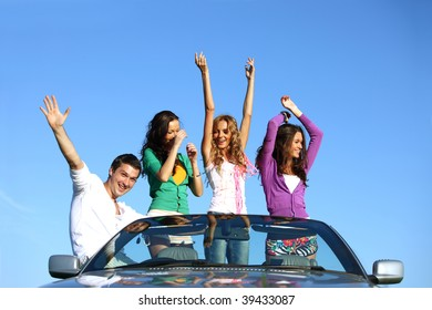 people in cabriolet