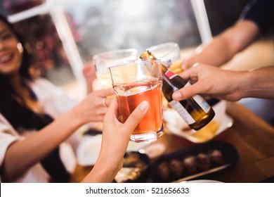 People are celebrating beer festivals