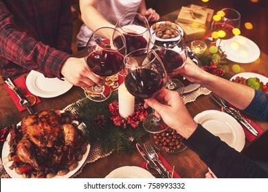People Cheers Celebrating Christmas