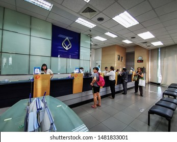 People come to use Bangkok Bank services. Bangkok Bank Was established in 1944 and has grown to become the largest commercial bank in Thailand. Bangkok, Thailand 19/8/2019