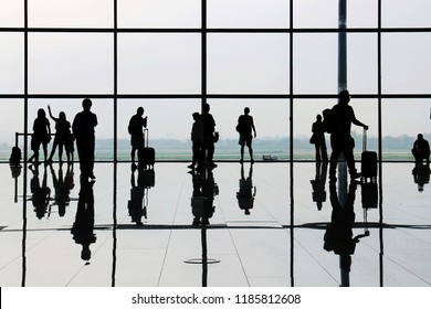 People coming and going terminal