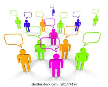 People Communicating Indicating Network Server And Connectivity