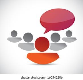 people communication concept. blank message. illustration design