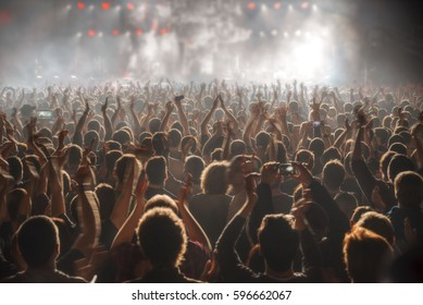 People at the concert are waiting for the show