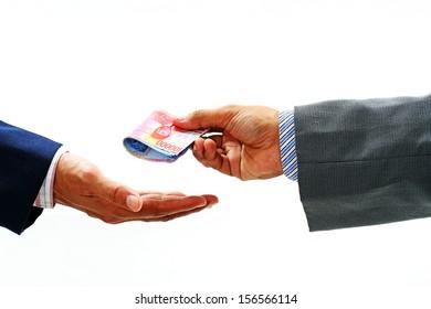 people,: crime,criminal,bribery,businessman isolated on white