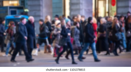 People Crowd Generic Background - Intentionally Blurred - London