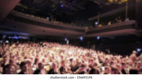 People crowd, intentionally blurred post production background