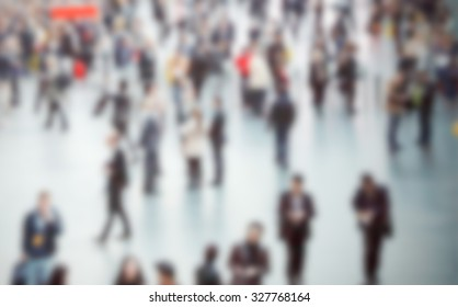 People crowd. Intentionally blurred post production.