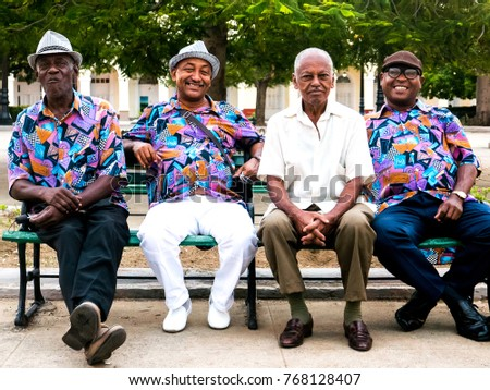 People Cuba Group Musicians Sitting On Stock Photo Edit Now