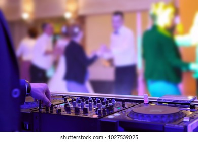 People dancing at a party or wedding reception