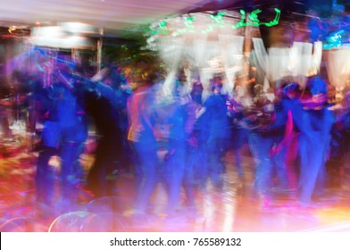 People dancing salsa, abstract background