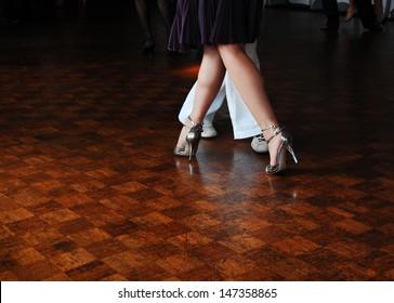 People dancing tango