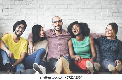 People Diversity Friends Friendship Happiness Concept