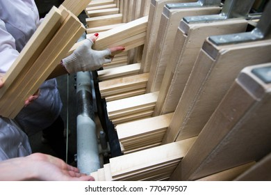 People doing woodcrafting