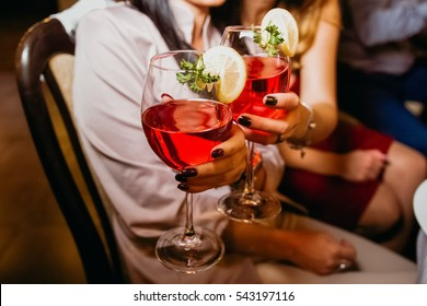 People drink a cocktail. Alcohol. Club.