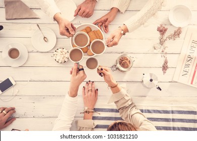 People drinking coffee concept