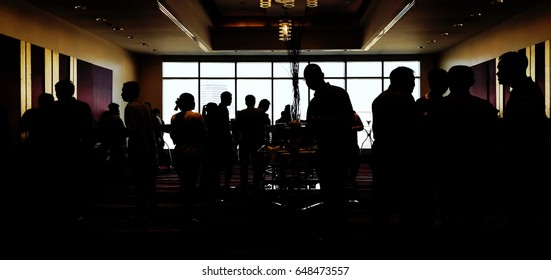 A lot of people are eating while braking in Silhouette.