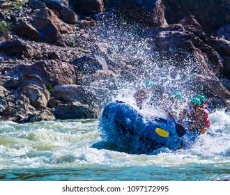 People enjoying Rafting in Rishikesh