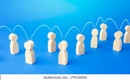 People exchange serial communication. Experience information exchange. Generational change. Cooperation, collaboration. Chain reaction, spread rumors. Partnership, assistance. Interaction of persons.