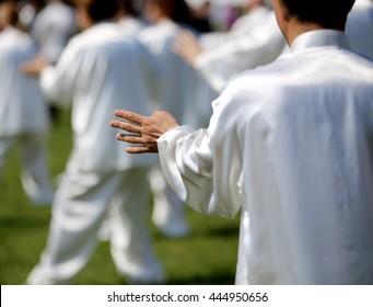 Imágenes, fotos de stock y vectores sobre Tai Chi Exercise