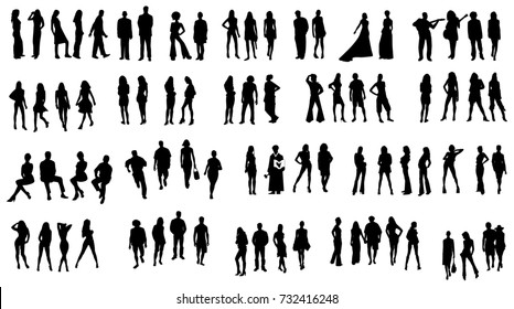 people fashion silhouettes