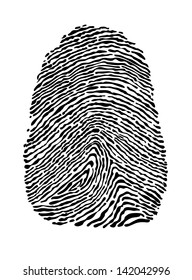 People fingerprint isolated on white background for security concept design
