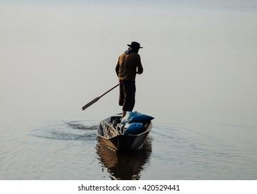 People fishing in the Lake.