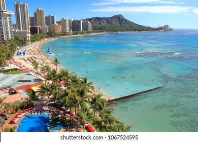 People flock to the waikiki in summer