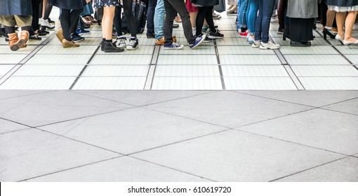 people forming a line