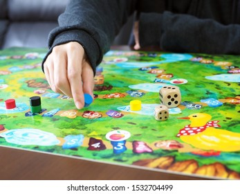 people friends family play roll board game together fun leisure beautiful illustration design selected focus
