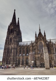 people in front of Köln Dom, Cologne Cathedral Germany  31 July 2017